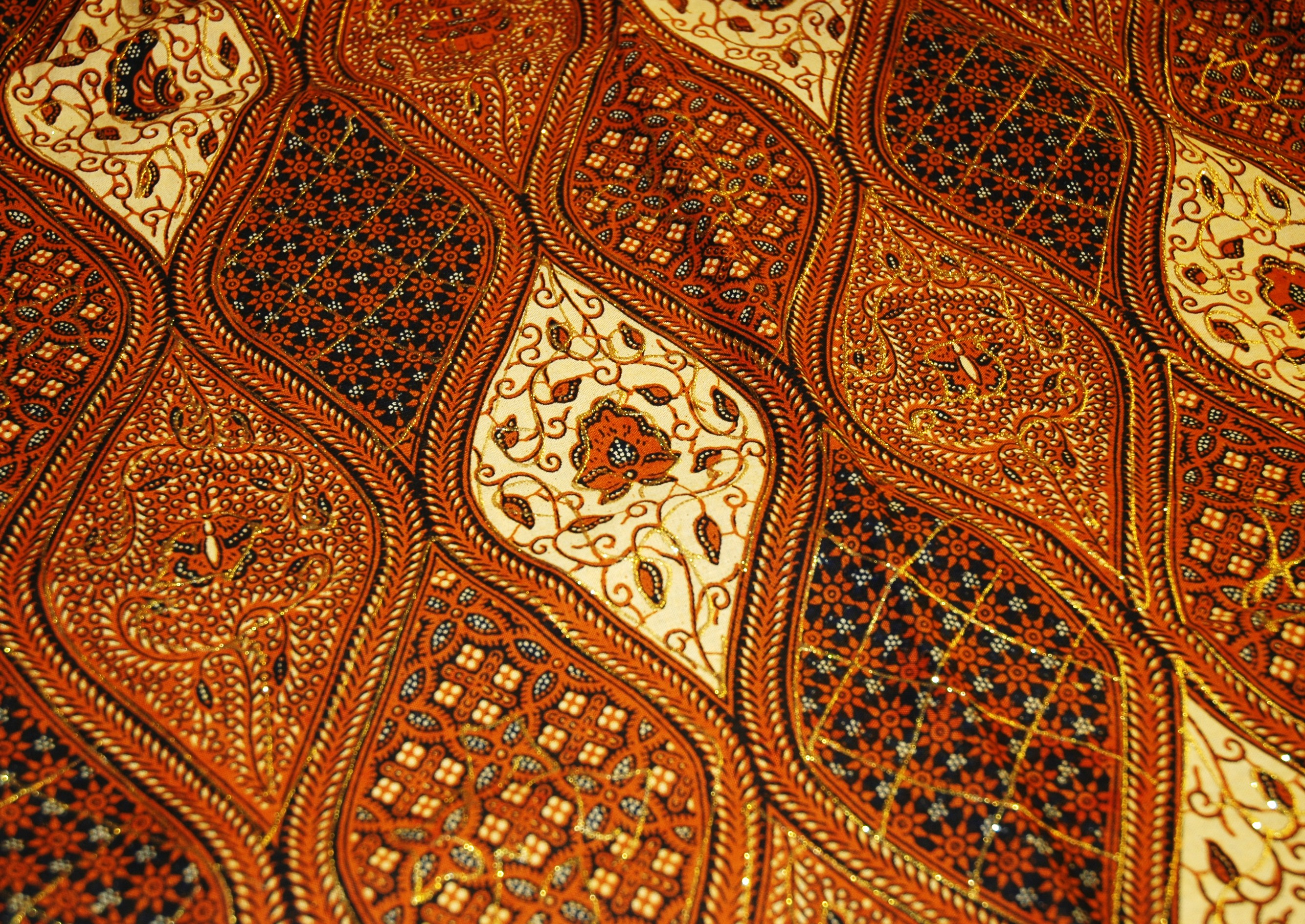 Sogan (brown) colour is typical batik from Yogyakarta. Courtesy of ...