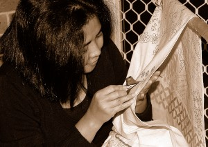 The art of making batik is a patience ....... Courtesy of hedabatik